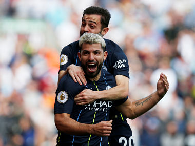 Premier League Sergio Agueros solitary goal against Burnley takes Manchester City two wins from title