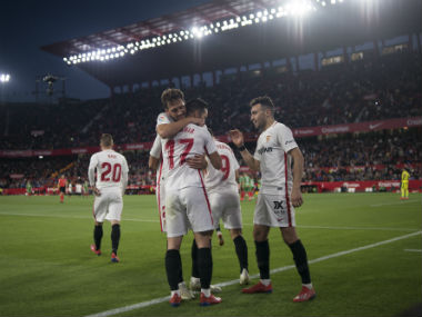 LaLiga Roque Mesa and Pablo Sarabia lift Sevilla back into European contention with win over Alaves