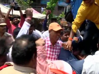 Protests over Telangana intermediate results continue Students guardians demand reevaluation suspension of board secretary