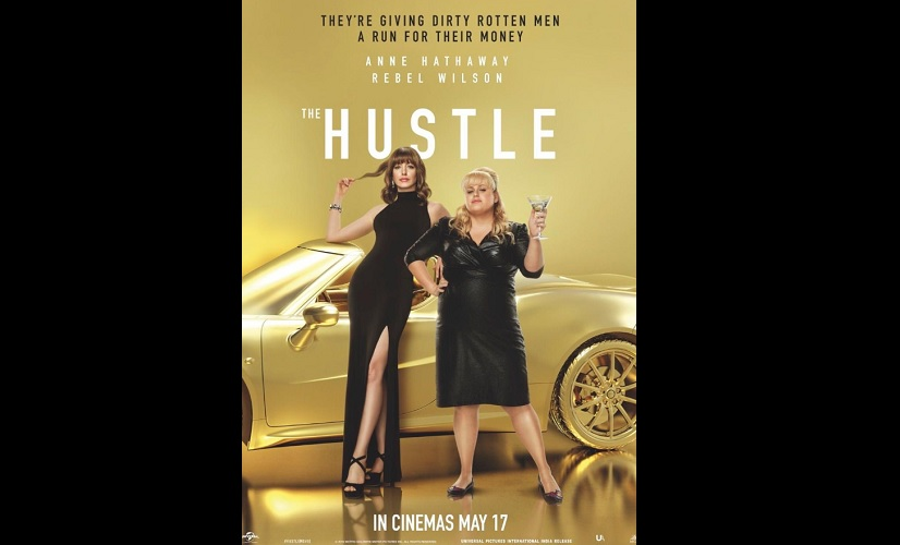 The Hustle Anne Hathaway Rebel Wilson look glamorous in new poster film to release on 17 May