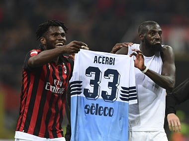 Serie A AC Milan Tiemoue Bakayoko and Franck Kessie reportedly fined for shirt prank after Lazio win
