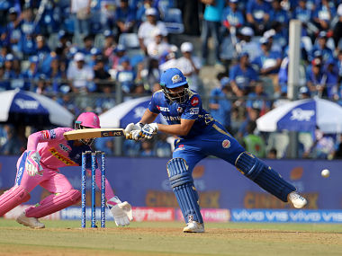 Captain of Mumbai Indians Rohit Sharma in action against Rajasthan Royals. Sportzpics
