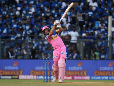 Jos Buttler of Rajasthan Royals in action against Mumbai Indians. Sportzpics