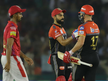 Virat Kohli and AB de Villiers stitched a match-winning 85-run partnership in 70 balls. against KXIP Sportzpics