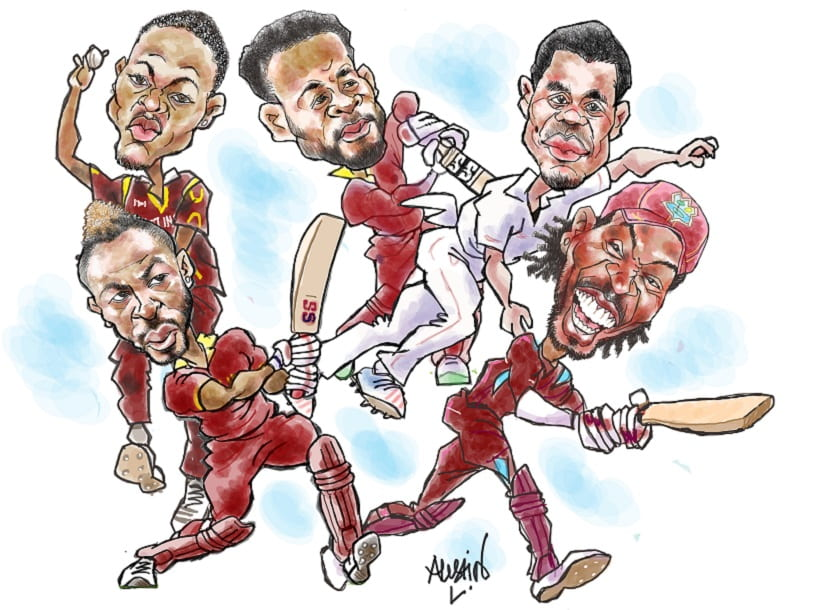 Brian Lara recently stated that England and India would easily make it to the playoff of World Cup 2019. Could he have added West Indies to that small, celebrated list? Illustration courtesy Austin Coutinho