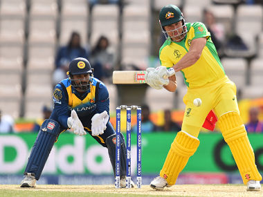 Australia's Marcus Stoinis plays a shot during their match against Sri Lanka. AFP