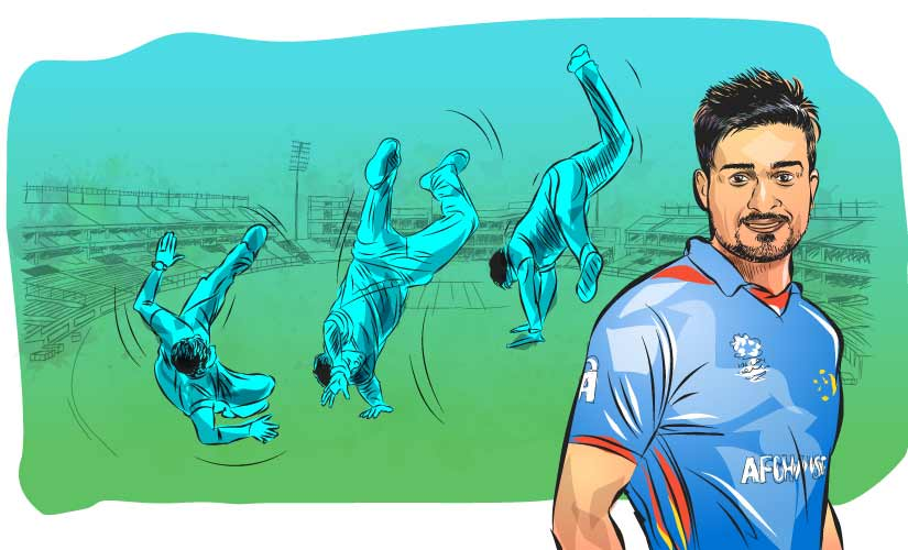 """""""I don't know what I am doing but after taking a wicket I just enjoy my celebration whether it's of No 1 or 11."""" Artwork by Rajan Gaikwad"""