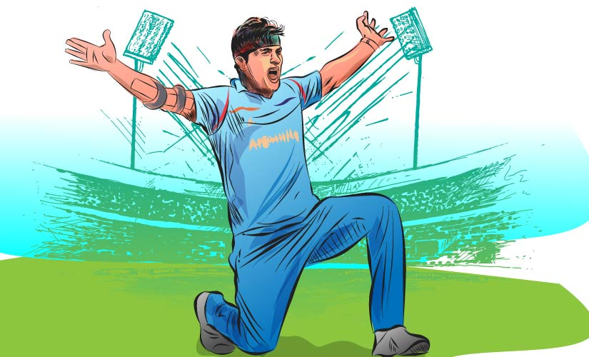 On a personal note too, it was a memorable 2015 World Cup for Hamid. He finished as the second highest wicket-taker for Afghanistan. Artwork by Rajan Gaikwad