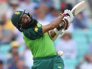 Hashim Amla endured a blow on the helmet early in his innings, and that changed the course of South Africa's chase. AFP