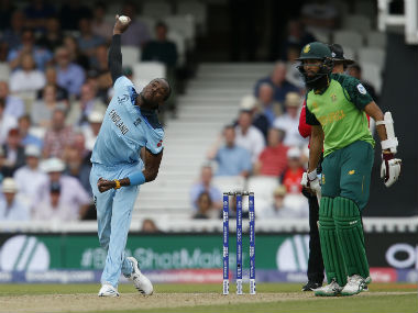 Jofra Archer's deceptive pace hustled the South African batsmen. AFP