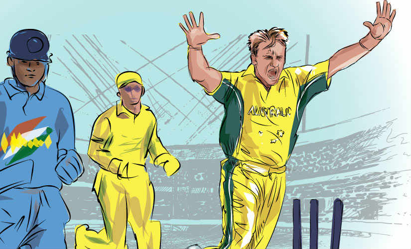 Andy Bichel was reckons India had their chances in the 2003 World Cup final, but the Australian team was just too good. Artwork by Rajan Gaikwad