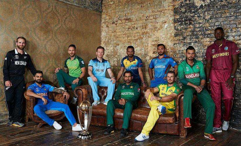 The 10 captains pose for a picture during the media day. ICC