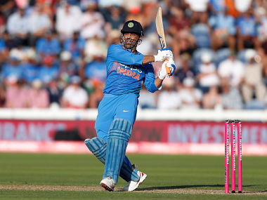 Cricket - England v India - Second International T20 - The SSE SWALEC, Cardiff, Britain - July 6, 2018 India's MS Dhoni in action Action Images via Reuters/Ed Sykes - RC1FA1428CD0