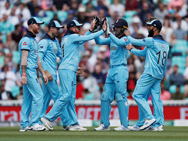 Cricket - ICC Cricket World Cup warm-up match - England v Afghanistan - Kia Oval, London, Britain - May 27, 2019   England's Jonny Bairstow and team mates celebrate the run out of Afghanistan's Najibullah Zadran   Action Images via Reuters/Paul Childs - RC1C3FE1CF50