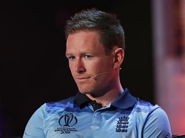 England's Eoin Morgan takes part in a captains press conference ahead of the 2019 ICC Cricket World Cup in London on May 23, 2019. - The 2019 Cricket World Cup, being hosted in England and Wales, starts on May 30, 2019. (Photo by ANDREW BOYERS / POOL / AFP)
