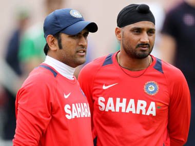 File image of Harbhajan Singh and MS Dhoni. Reuters
