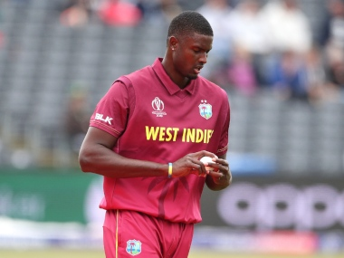 West Indies captain Jason Holder in action. AP