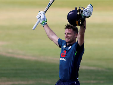 Cricket - Second One Day International - England v Pakistan - The Ageas Bowl, Southampton, Britain - May 11, 2019 England's Jos Buttler celebrates Action Images via Reuters/Paul Childs - RC142613E200