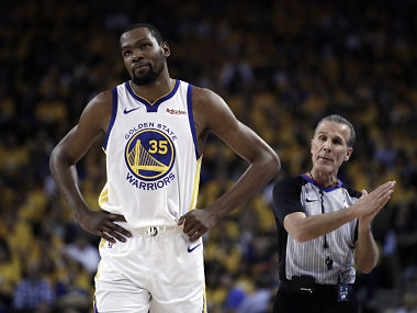 NBA Finals 2019 Warriors forward Kevin Durant to miss Game 1 against Raptors in Toronto due to calf injury