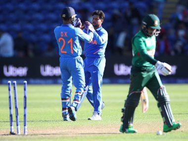 After a poor IPL, Kuldeep Yadav bounced back with three wickets against Bangladesh in a warm-up match. Reuters