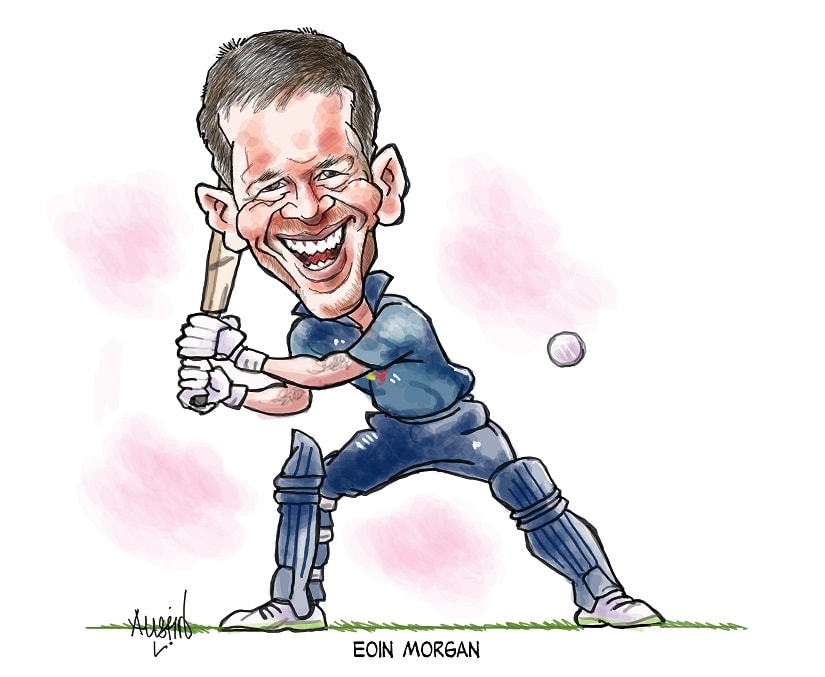 England has been building up on its resources for an assault on the World Cup for the last couple of years under Eoin Morgan and coach Trevor Bayliss. Illustration courtesy Austin Coutinho