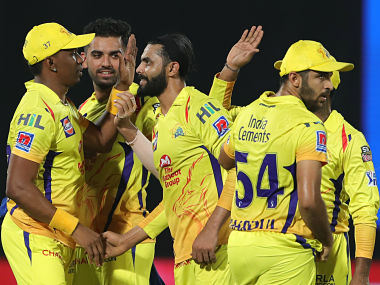 Ravindra Jadeja of Chennai Super Kings celebrates the wicket of Colin Munro of Delhi Capitals during the qualifier 2 match of the Vivo Indian Premier League Season 12, 2019 between the Chennai Super Kings and the Delhi Capitals held at the ACA-VDCA Stadium, Visakhapatnam on the 10th May 2019 Photo by: Deepak Malik /SPORTZPICS for BCCI