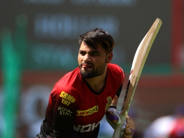 Rinku Singh of the Kolkata Knight Riders before the start of the match forty four of the Vivo Indian Premier League 2018 (IPL 2018) between the Kings XI Punjab and the Kolkata Knight Riders held at the Holkar Cricket Stadium, Indore on the 12th May 2018. Photo by: Vipin Pawar /SPORTZPICS for BCCI