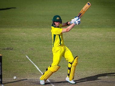 Australia's Steve Smith plays a shot during a World Cup cricket warm-up match between Australia and New Zealand in Brisbane on May 10, 2019. (Photo by Patrick HAMILTON / AFP) / IMAGE RESTRICTED TO EDITORIAL USE - STRICTLY NO COMMERCIAL USE