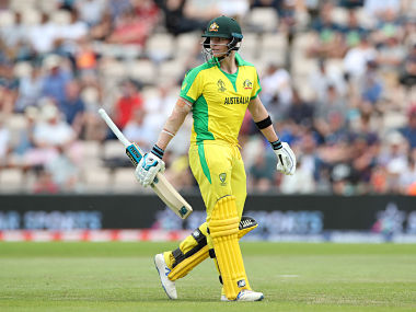 Cricket - ICC Cricket World Cup Warm-Up Match - England v Australia - The Ageas Bowl, Southampton, Britain - May 25, 2019 Australia's Steve Smith walks off after being dismissed Action Images via Reuters/Peter Cziborra - RC1FC4844F40