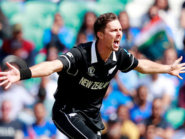 Trent Boult in action during New Zealand's World Cup warm-up match against India. Reuters