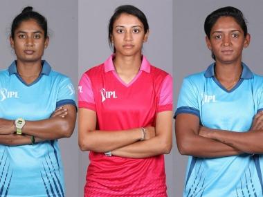 Mithali Raj (L), Smriti Mandhana (C) and Harmanpreet Kaur will lead three teams in Women's IPL T20 2019. Image courtesy: Twitter @IPL