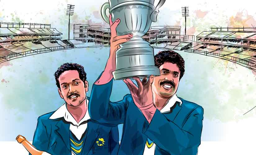 Kapil Dev lifted India's maiden World Cup trophy in 1983 as captain.