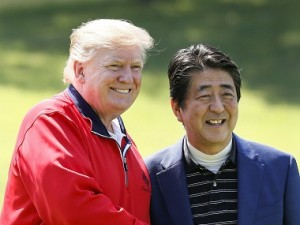 Donald Trump says he expects Japans military to reinforce United States in Asia and beyond