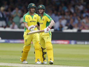 David Warner and Aaron Finch raised their third century stand of this World Cup on Tuesday. AP