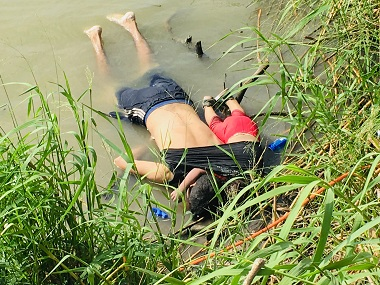 I hate it Donald Trump on photo of drowned Salvadorian migrants blames Democrats for deaths