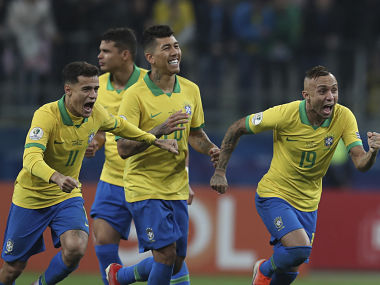 Copa America 2019 Gabriel Jesus converts winning spotkick as Brazil exorcise Paraguay penalties demons to reach semis