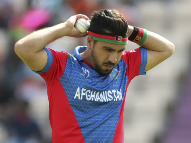 Afghanistan pacer Aftab Alam collected four wickets in three games in the 2019 World Cup, including a haul of 3/45 against New Zealand. AP