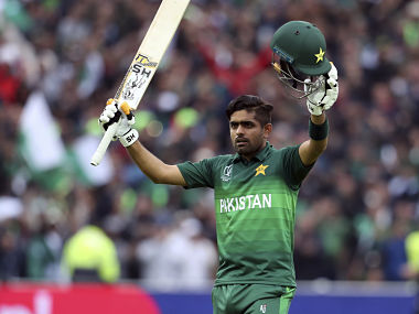 Babar's 10th one-day international century at Edgbaston on Wednesday. AP