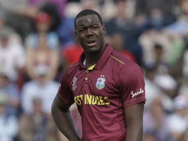 Carlos Brathwaite admitted the offence and accepted the sanction from match referee David Boon. AP