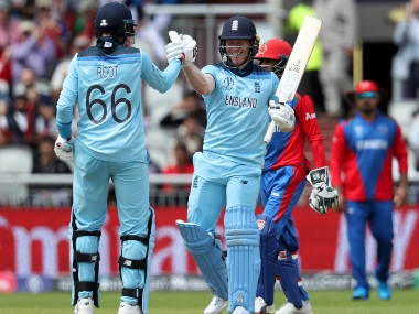 England's Eoin Morgan smashed 17 sixes on his way to 148 off 71 balls. AP