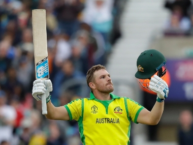 Aaron Finch smashed his 14th ODI ton against Sri Lanka at The Oval. AP