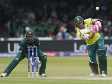 Skipper Faf du Plessis offered sole resistance in his team's loss to Pakistan. AP