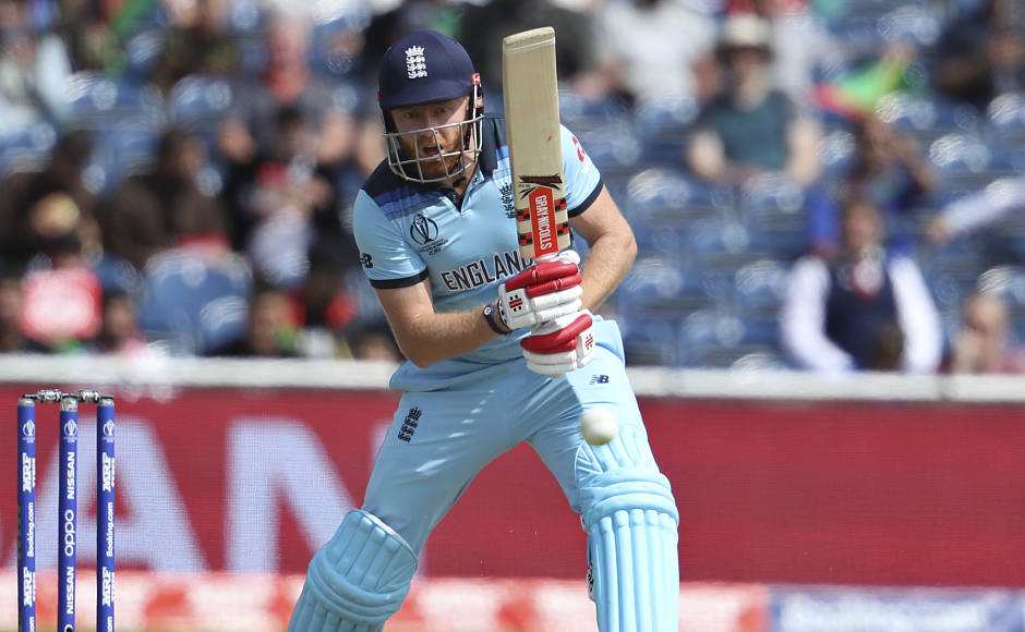After losing James Vince for 26, Jonny Bairstow (in pic) played a knock of 90 runs before being dismissedby the captain Mohammad Naib. AP