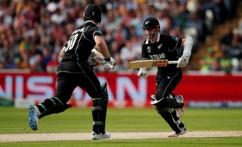 Kane Williamson and Colin de Grandhomme guided New Zealand to a tense win. Reuters