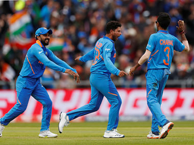 Chahal has taken eight wickets while Kuldeep has only taken three wickets. Reuters