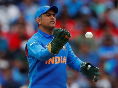 MS Dhoni decided to use a separate pair of gloves against Australia. Reuters