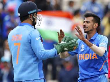File image of MS Dhoni and Yuzvendra Chahal. Reuters