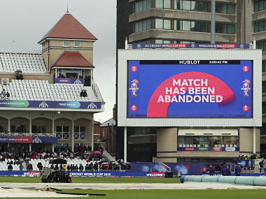 The Cricket World Cup match between India and New Zealand at Trent Bridge in Nottingham, Thursday, June 13, 2019, called off due to rain. Match abandoned without a ball bowled. (AP Photo/Rui Vieira)