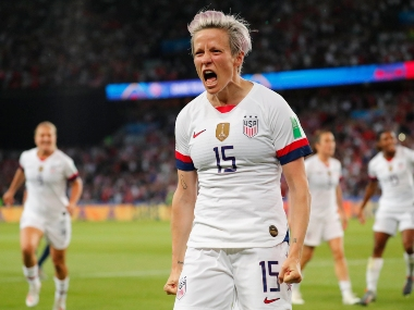 FIFA Womens World Cup 2019 Megan Rapinoes double strike helps USA knock out France sets up semis clash against England