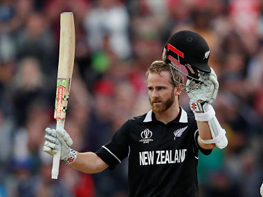 New Zealand captain Kane Williamson celebrates after scoring a century against South Africa. Reuters